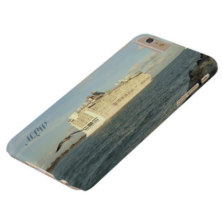 Epic Pursuit - Gull Behind Cruise Ship Monogrammed Barely There iPhone 6 Plus Case