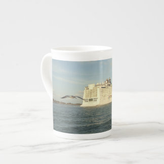 Epic Pursuit - Gull Following Cruise Ship Tea Cup