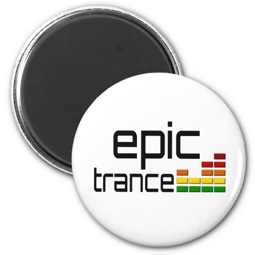 Epic Trance Music with Stereo Equalizer Fridge Magnet