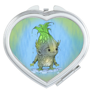 EPICORN ALIEN CARTOON compact mirror heart