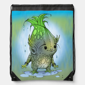 EPICORN ALIEN CARTOON Drawstring Backpack