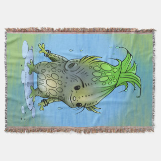 EPICORN ALIEN CARTOON Throw Blanket