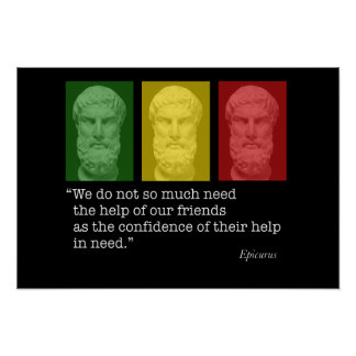 Epicurus and Friendship Poster