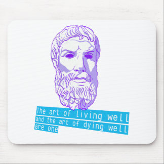 epicurus the art of living mouse pad