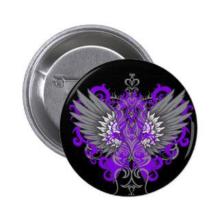 Epilepsy Awareness Cool Wings 6 Cm Round Badge