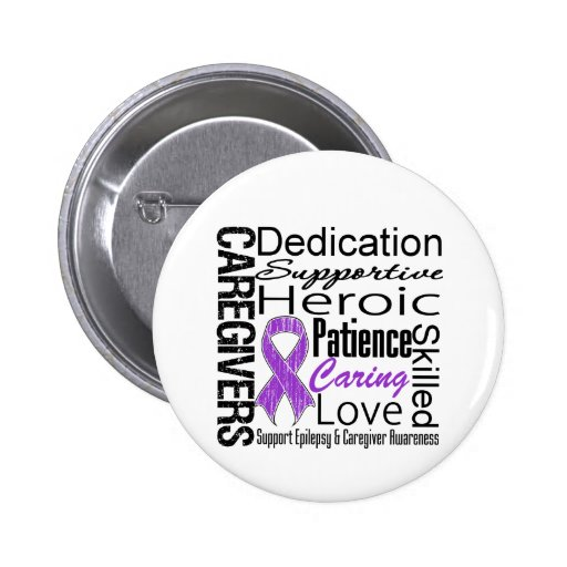 Epilepsy Caregivers Collage Button