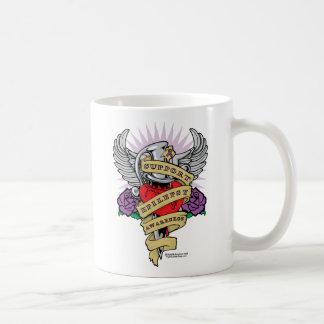 Epilepsy Dagger and Heart Tattoo Coffee Mug