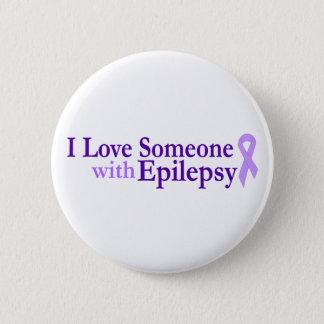 epilepsy love 6 cm round badge