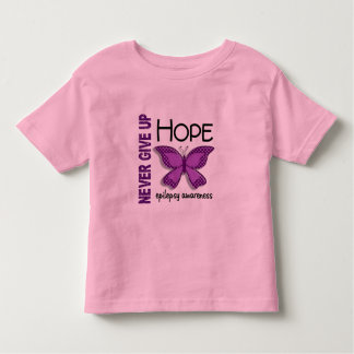 Epilepsy Never Give Up Hope Butterfly 4.1 Toddler T-Shirt