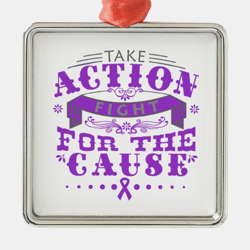 Epilepsy Take Action Fight For The Cause Christmas Ornaments