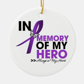 Epilepsy Tribute In Memory of My Hero Round Ceramic Decoration