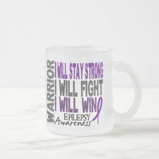 Epilepsy Warrior Frosted Glass Coffee Mug
