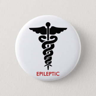 EPILEPTIC 6 CM ROUND BADGE