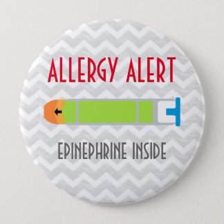 Epinephrine Allergy Alert Emergency Medicine Pin