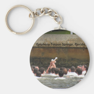 Epiphany Celebration Tarpon Springs, Florida Basic Round Button Key Ring