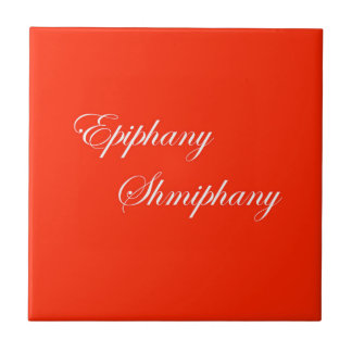 Epiphany Red and White Ceramic Tile