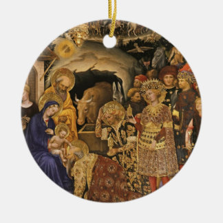 Epiphany Three Kings Virgin Mary Baby Jesus Joseph Ceramic Ornament