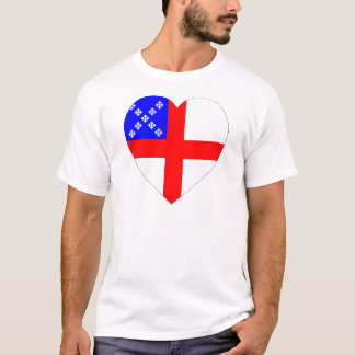 Episcopal Flag Heart T-Shirt