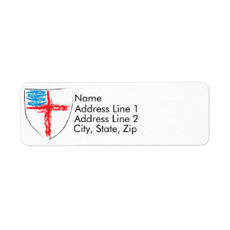 Episcopal Shield Return Address Label