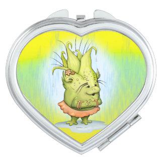 EPIZELLE ALIEN CARTOON compact mirror heart