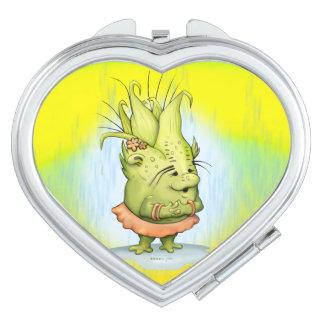 EPIZELLE ALIEN CARTOON LOVE compact mirror HEART