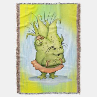 EPIZELLE ALIEN CARTOON Throw Blanket
