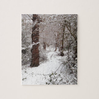 Epping Forest in the snow. Jigsaw Puzzle