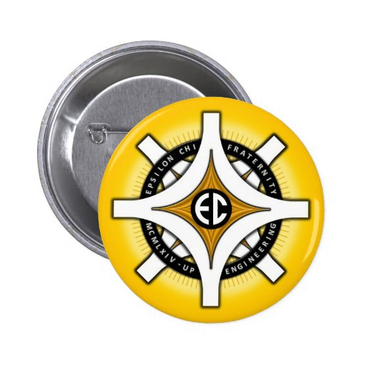 Epsilon Chi Fraternity Gold-Colored Buttons
