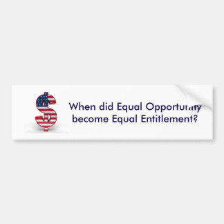 Equal Opportunity Bumper Sticker