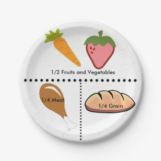 Equal Portions Plate 7 Inch Paper Plate