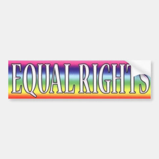 EQUAL RIGHTS BUMPER STICKER