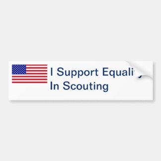 Equal Scouting Bumper Sticker Car Bumper Sticker