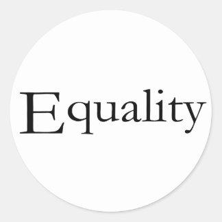 Equality Classic Round Sticker