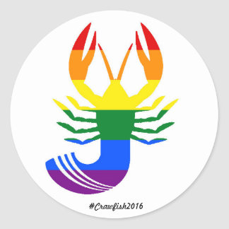 Equality Crawfish Classic Round Sticker