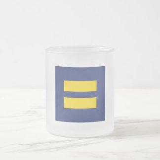 EQUALITY Logo FROSTED MUG