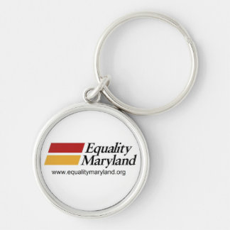 Equality MD- Keyring Silver-Colored Round Key Ring