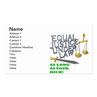 Equality Pack Of Standard Business Cards