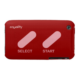 "Equality ""select start"" gay rights Case-Mate iPhone 3 case"