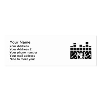 Equalizer DJ Vinyls Business Card Templates