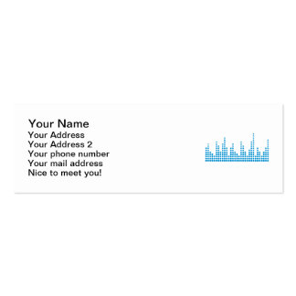 Equalizer music business card templates