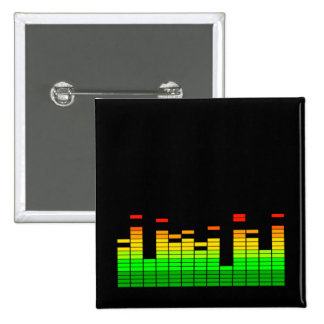 Equalizer Vibes from the Beat of DJ Music 15 Cm Square Badge