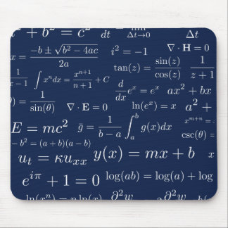 Equations of Math and Science Mouse Pad