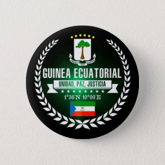Equatorial Guinea 6 Cm Round Badge