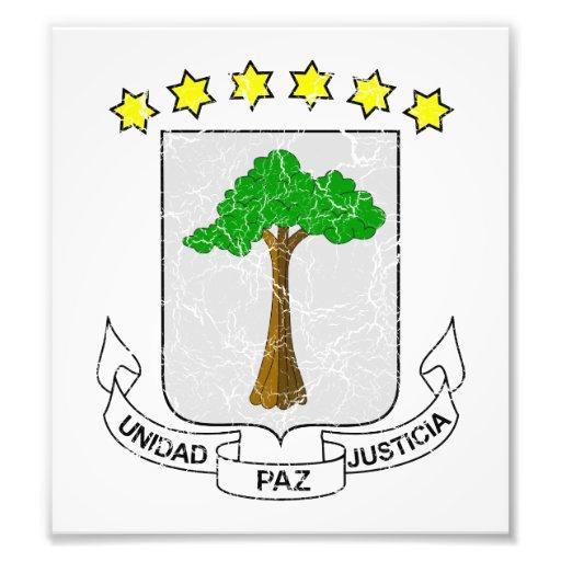 Equatorial Guinea Coat Of Arms Photographic Print