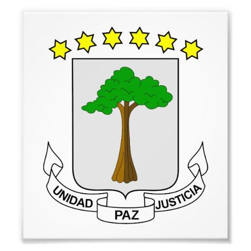 Equatorial Guinea Coat Of Arms Art Photo