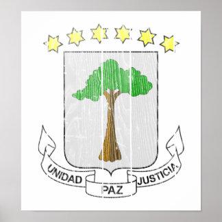 Equatorial Guinea Coat Of Arms Print