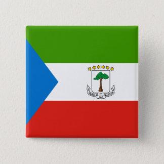 Equatorial Guinea Flag 15 Cm Square Badge