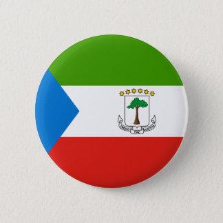 Equatorial Guinea Flag 6 Cm Round Badge