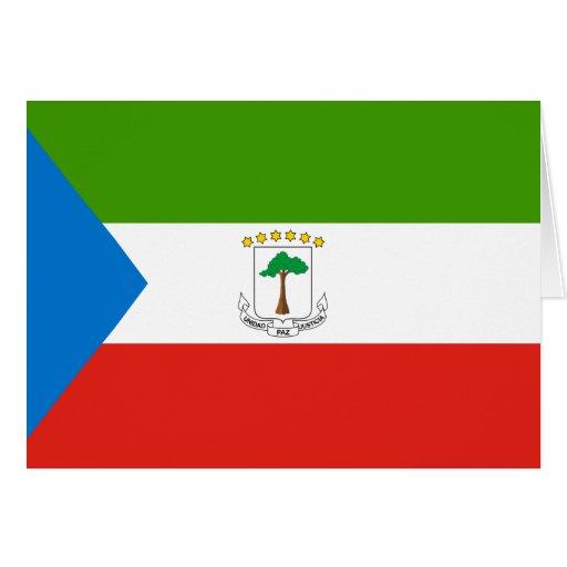 Equatorial Guinea Flag Greeting Card