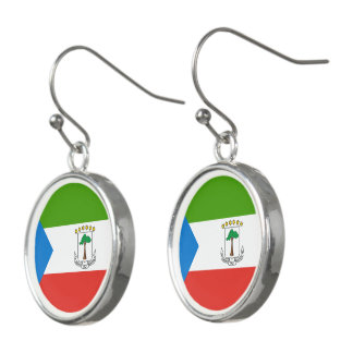 Equatorial Guinea Flag Earrings